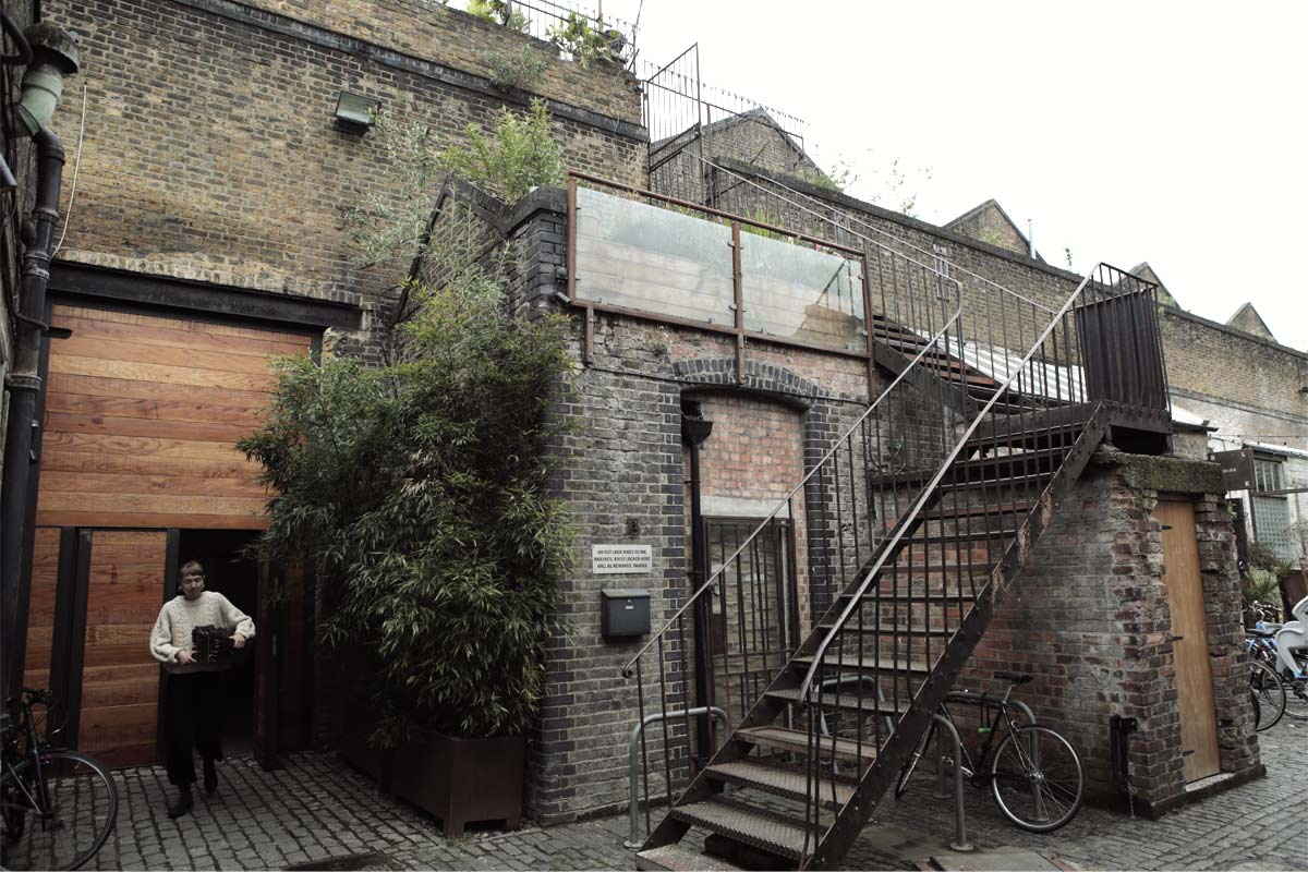Shot of the stairs leading to Hackney Studios One.